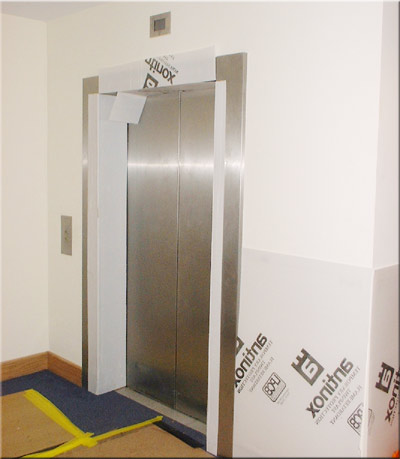 Lift protection during office relocation